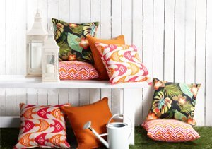 Colorful Comfort: Indoor/Outdoor Pillows & Cushions
