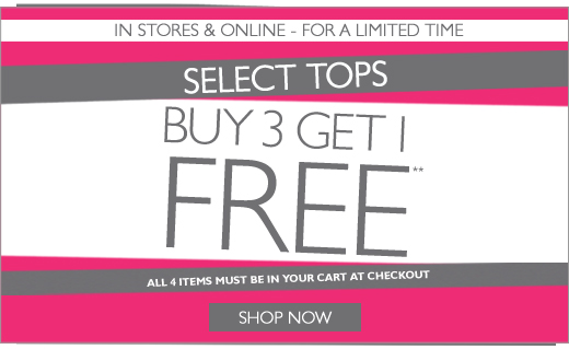 Buy 3 Get 1 Free Tops!