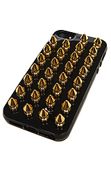 The iPhone 5 Case in Black and Gold Spikes