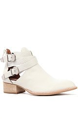 The Everly Boot in White and Beige