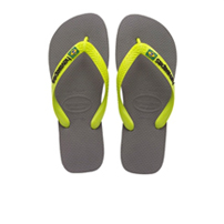 Women's Brasil Logo in Grey /Lime Green