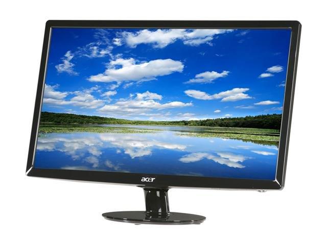 Acer S231HLbid Black 23 inch 5ms HDMI LED-Backlight LCD monitor Slim Design 250 cd/m2 ACM 12,000,000:1 (1000:1)