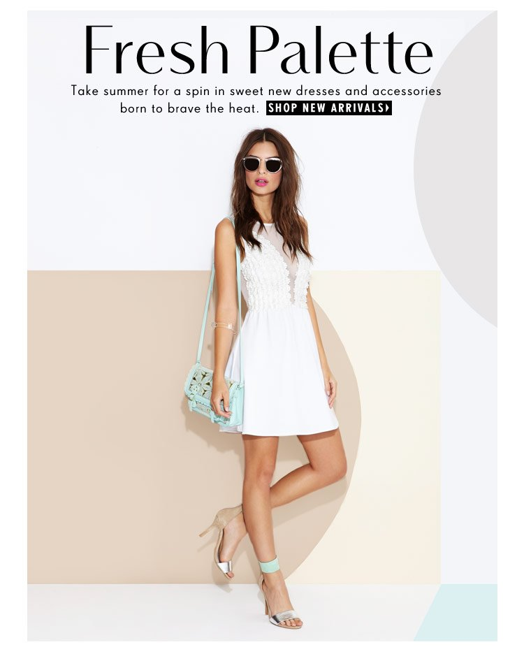 Brave the heat in sweet dresses and accessories