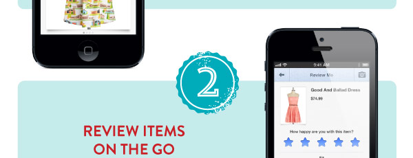 2. Review items on the go
