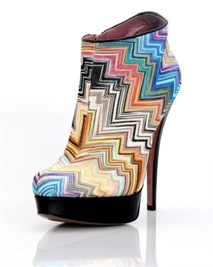 Missoni Tessuto Chevron Booties- Made in Italy