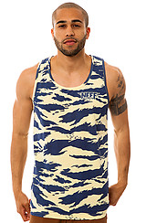 The Tiger Camo Tank in Yellow & Blue