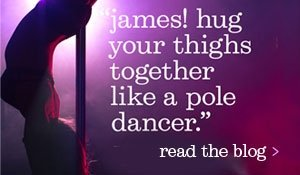 hug your thighs together like a pole dancer