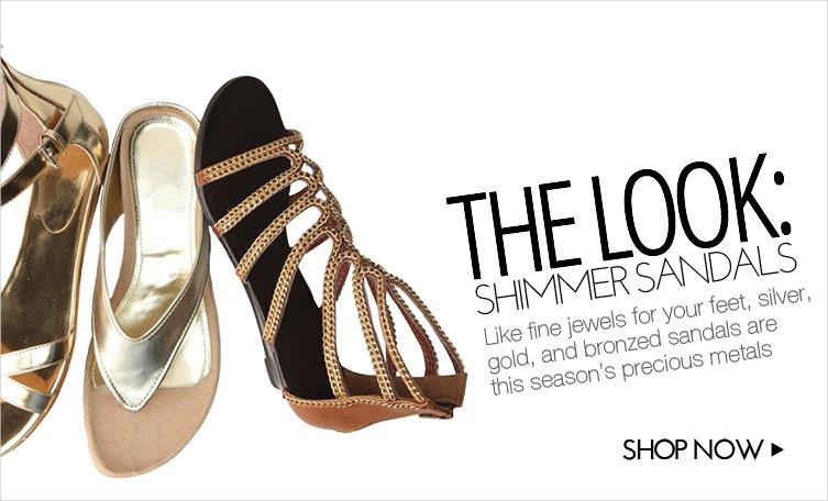 Shimmer Sandals