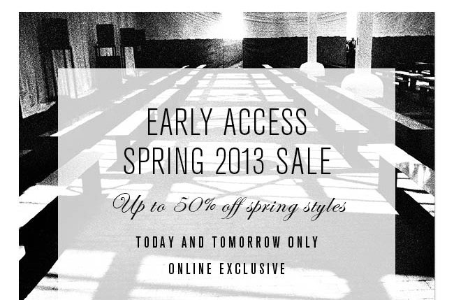 early access sale