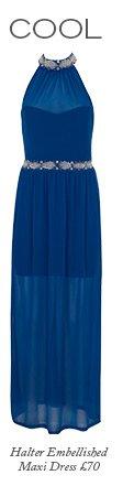 Halter Embellished Maxi Dress