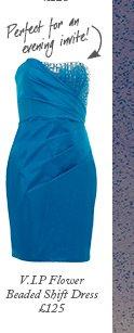 Beaded Neckline Bandeau Dress