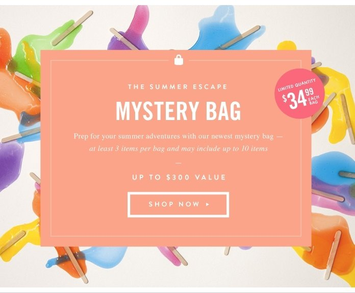The Summer Escape Mystery Bag