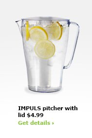 IMPULS pitcher with lid