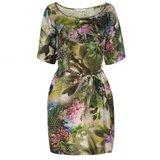 Hazy Botanical Print Tunic Dress