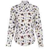 White Classic-Fit Pansy Shirt