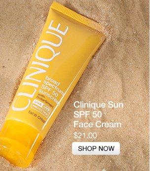 Clinique  Sun. SPF 50 Face Cream. $21.00. SHOP NOW.