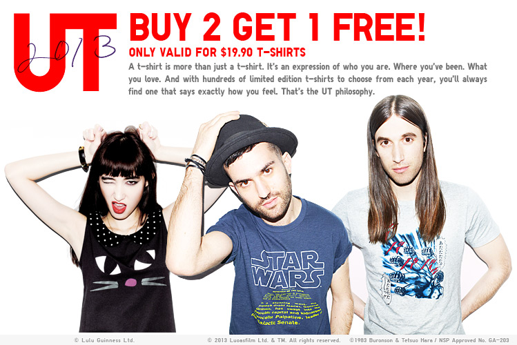 UT - BUY TWO GET ONE FREE