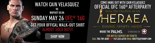 Prepare for the Cain Velasquez Fight + Check out New Arrivals
