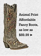 All Womens Affordable Fancy Animal Print Boots on Sale
