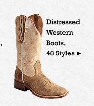 All Womens Distressed Western Boots on Sale