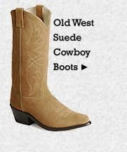 Mens Old West Suede Cowboy Boots on Sale