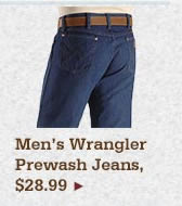 All Mens Wrangler Prewash Jeans on Sale