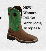 All Mens Western Pull On Work Boots on Sale