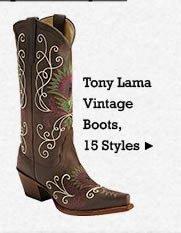 All Womens Vinatage Tony Lama Boots on Sale