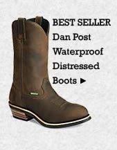 Mens Dan Post Waterproof Distressed Boots on Sale