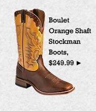 Mens Boulet Orange Shaft Stockman Boots on Sale