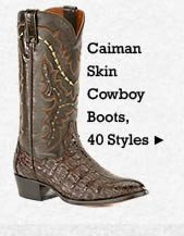 All Mens Caiman Skin Boots on Sale