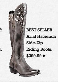 Womens Ariat Hacienda Side Zip Riding Boots on Sale