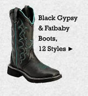 All Womens Black Gypsy and Fatbaby Boots on Sale