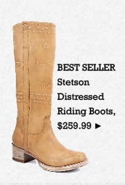 Womens Stetson Distressed Riding Boots on Sale