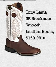 Mens Tony Lama 3R Stockman Smooth Leather Boots on Sale