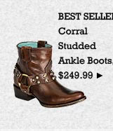 Womens Corral Studded Ankle Boots on Sale