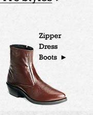 All Mens Zipper Dress Boots on Sale