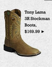 Mens Tony Lama 3R Stockman Boots on Sale