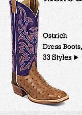 All Mens Ostrich Dress Boots on Sale