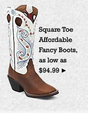 All Womens Affordable Fancy Square Toe Boots on Sale