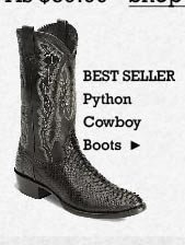 All Mens Python Dress Boots on Sale