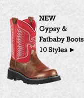 All Womens New Gypsy and Fatbaby Boots on Sale