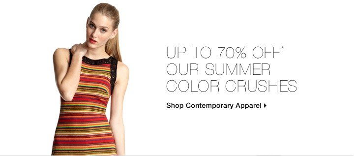 Up To 70% Off* Our Summer Color Crushes