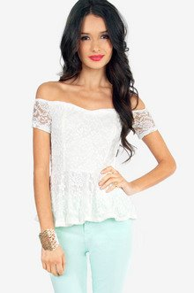 ALENA LACE PEPLUM TOP 25