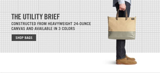 <br /> The Utility Brief. Shop Bags.