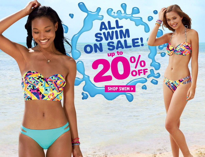 ALL SWIM ON SALE! up to 20%  OFF