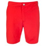 Long Slim-Fit Red Swim Shorts