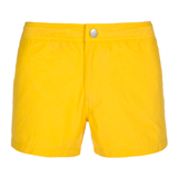 Slim-Fit Yellow Swim Shorts