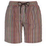 Long Signature Check Swim Shorts