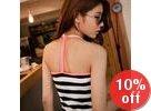 Y-Strap Back Striped Tank Top